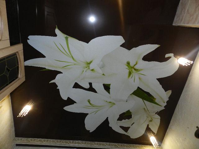 Черный цветок на потолок